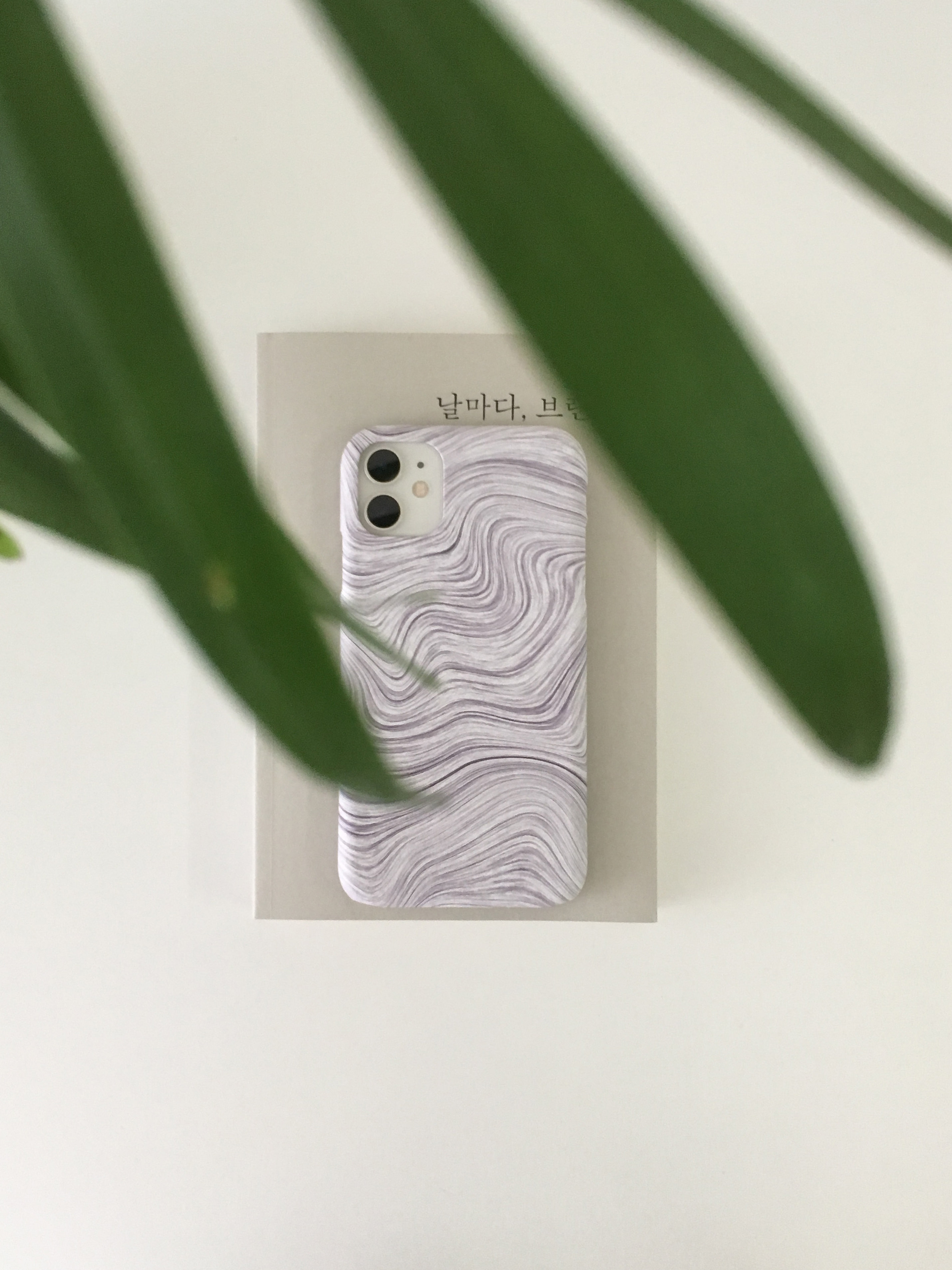 iphone hard case - wave (gray)
