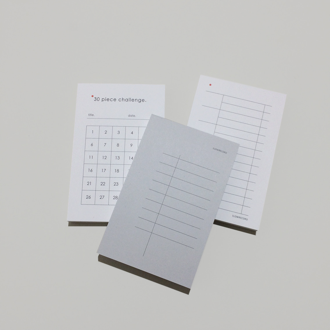 record memo pad (3type)